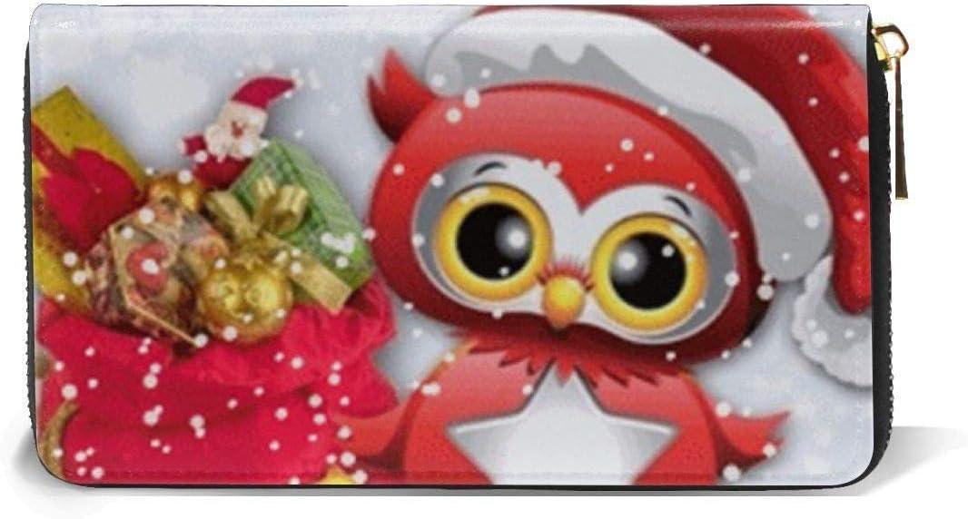 naotaori Portefeuille Femme Womens New Card Holder Wristlets Wallets Christmas Owl