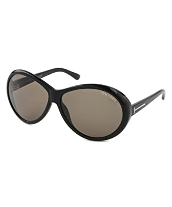 f586886eaa948 Image Unavailable. Image not available for. Color  Tom Ford Geraldine  FT0202 Sunglasses-01J Gold Shiny Black (Brown Lens)-62mm