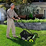 Sun Joe Manual Reel Mower 9 Steel frame and blades 18 inch wide cutting path 9-position height control