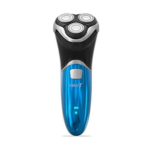 MAX-T Electric Shaver Wet & Dry Mens Rotary Shaver IPX7 100% Waterproof Quick Rechargeable Electric Razor with Pop-up Trimmer Razor for men