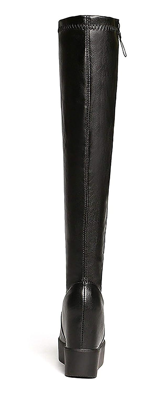 Winter Neue Dicke Unterseite Innen Erhöhte Seitenreißverschlussstiefel über über über dem Knie Stretch Hohe Röhre Frauen Plus Samt Stiefel,schwarz,EU39 UK5.5 64b7dd