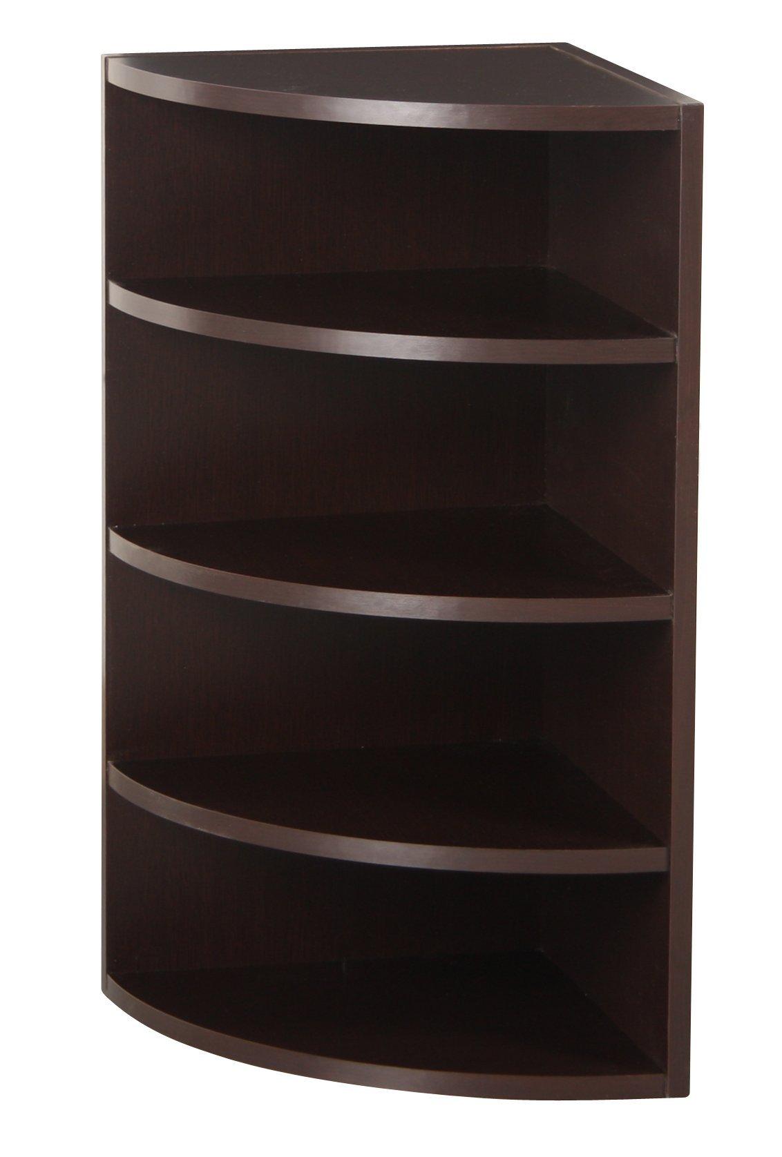 Foremost 328009 Modular Corner Radius Cube Storage System Espresso