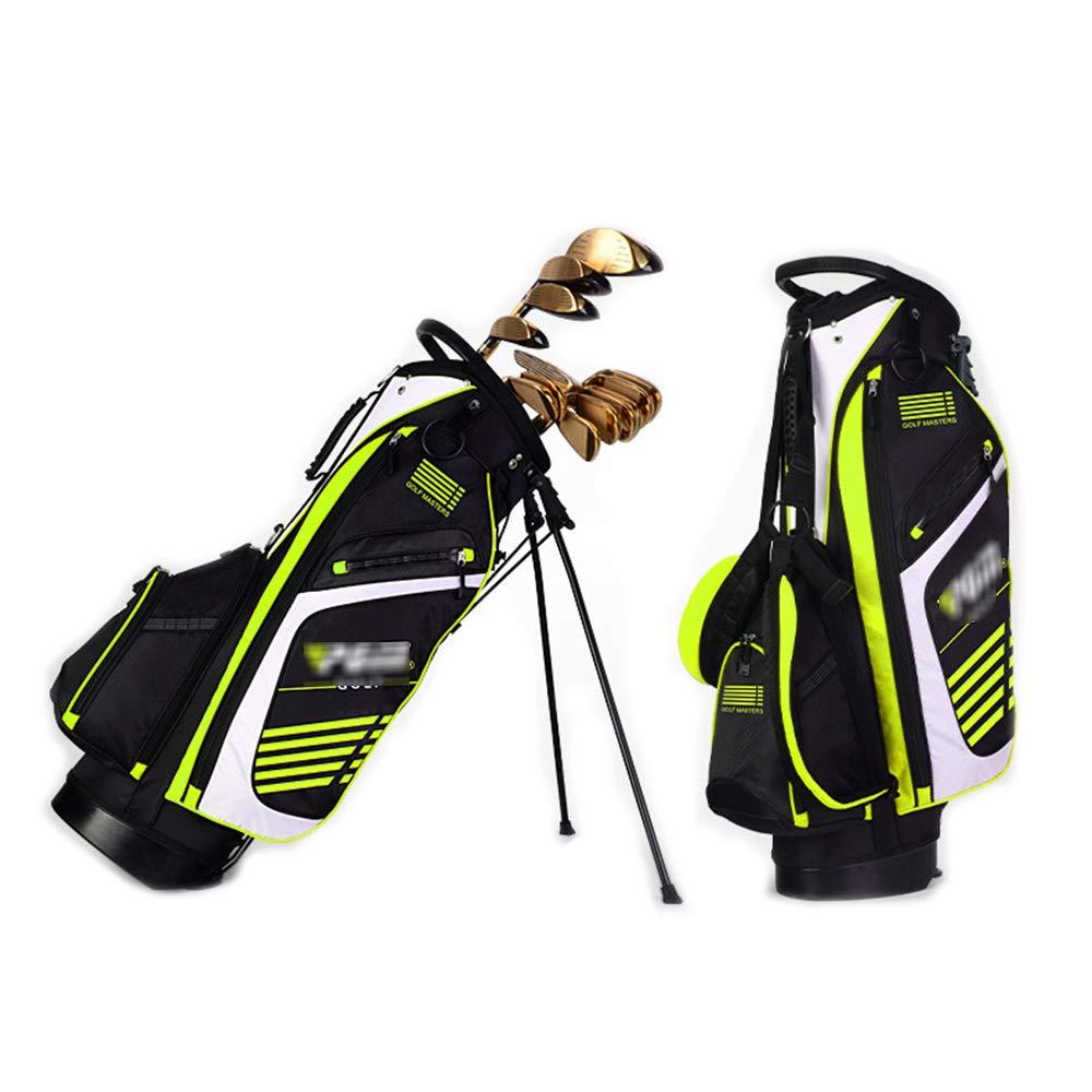 男性と女性のためのゴルフクラブスタンドバッグ、14ゴルフクラブと6-8ゴルフボールを収容できます,BlackAndGreen B07Q9PV5R6 BlackAndGreen