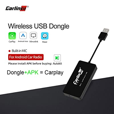 Carlinkit carplay dongle Wireless Upgrade Box Interface for Apple carplay Android Head Unit,Wireless,Android auto,Bluetooth,with mic: Car Electronics