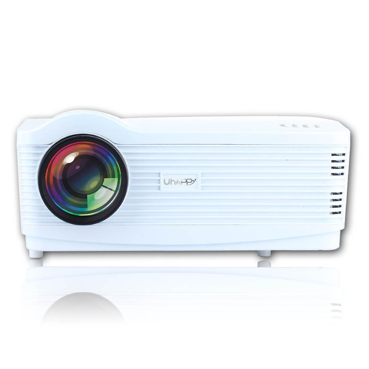 UHAPPY Casa LED HD Proyector Wifi Android4.4 1080p 3000 lúmenes ...