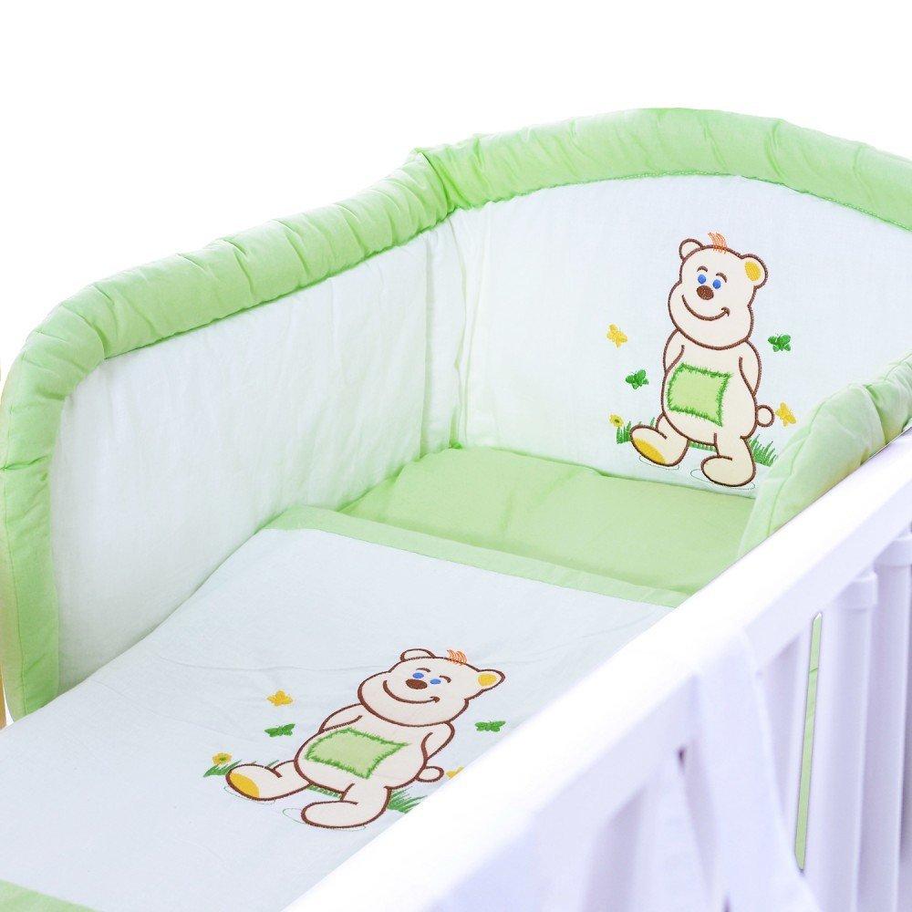 F/üllungen und Nestchen Motiv B/är braun LCP Kids Baby Bettw/äsche Bettset 5 teilig 135x100 mit Bez/ügen