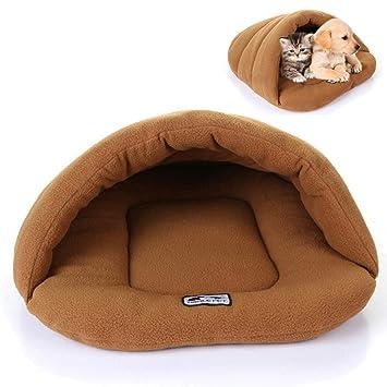 Domybest - Juego de cama para mascotas, gatos, perros, cachorros, nido, caseta suave y cálida, para dormir en casa: Amazon.es: Productos para mascotas