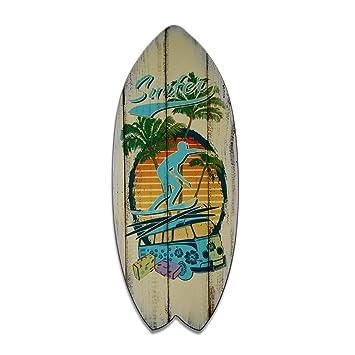 cuadro tabla de surf, impreso sul placa de madera, 60 x 25 cm,
