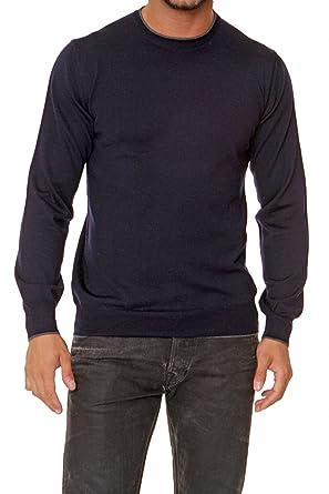 Marc O'Polo Herren Pullover Feinstrickpullover MERINO EXTRAFINE, Farbe: Dunkelblau