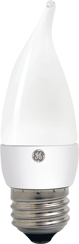 GE Lighting 36748 Dimmable LED 7-watt (45-watt Replacement), 500-Lumen Candle Light Bulb with Medium Base, Soft White, 1-Pack