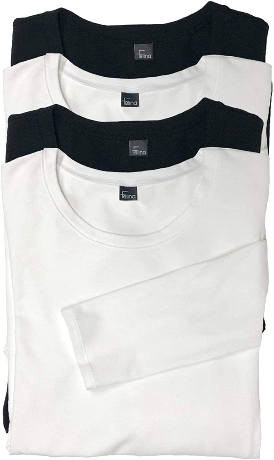 Black /& White Felina 2-Pack Long Sleeve Layering Turtleneck 2-Pack Size Small