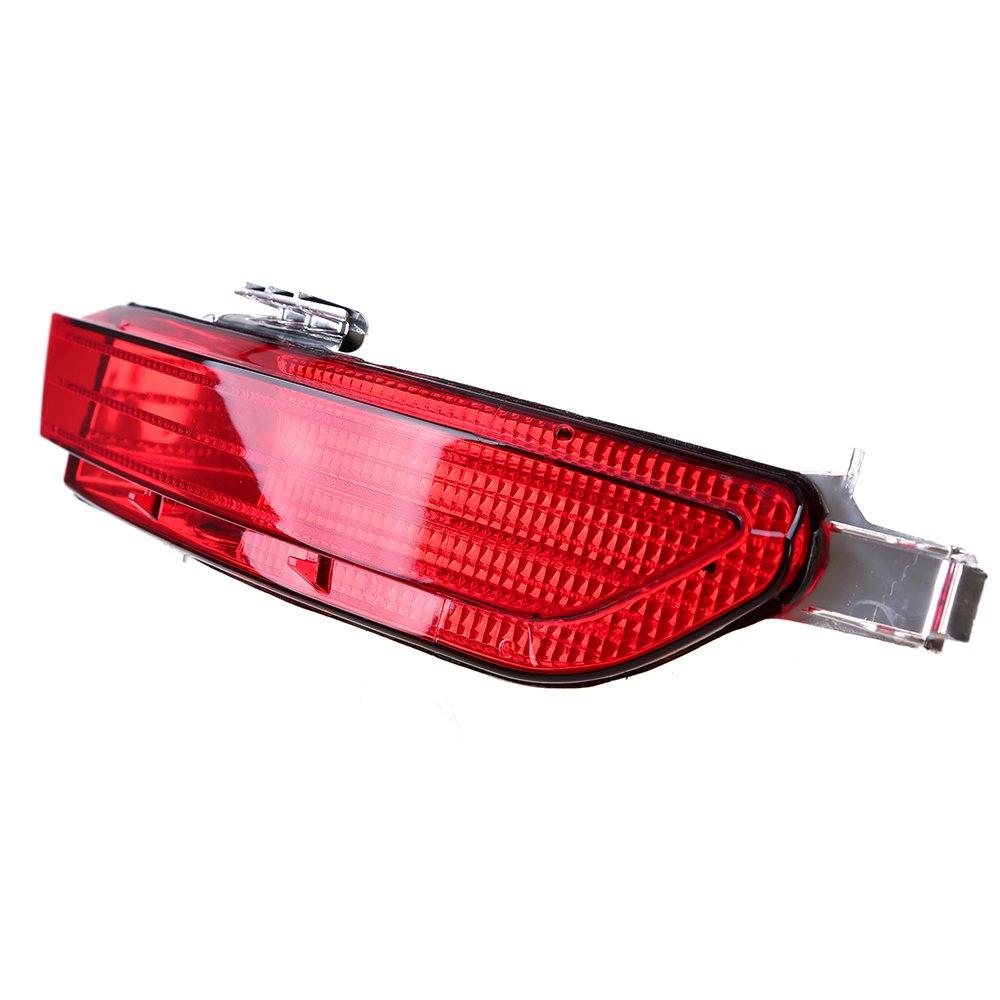 POSSBAY Rear Bumper Reflector Red Lens Driver Side
