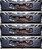 G.Skill 64GB (4x16GB) Flare X DDR4 PC4-19200 2400MHz for AMD Ryzen Quad Channel Kit Model F4-2400C16Q-64GFX