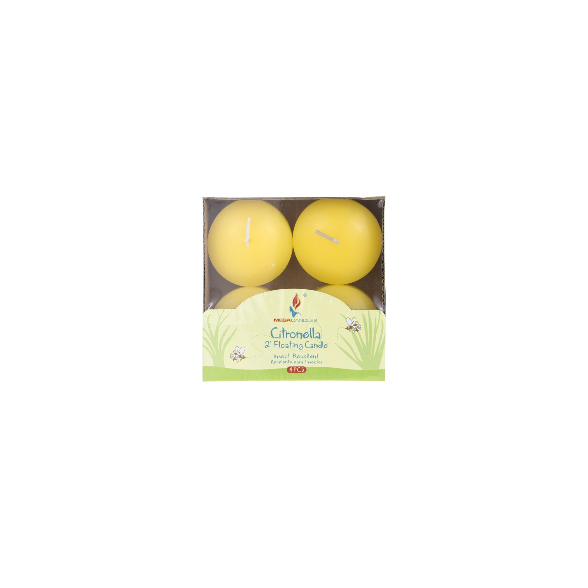 Mega Candles 12 pcs Citronella Floating Disc Candle | Hand Poured Paraffin Wax Candles 2'' Diameter | Bug Repellent Candles For Indoor And Outdoor Use | Everyday Candles For Mosquitoes And Insects by Mega Candles