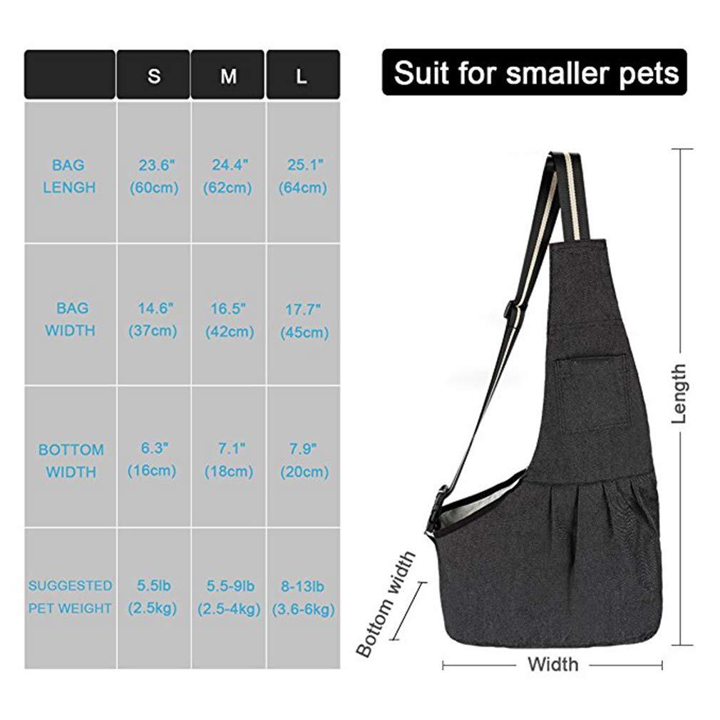 EBRICKON Pet Carrier Sling, Shoulder Bag Adjustable Slide Strap Small & Medium Dogs, Cats Rabbits, Hands-Free Outdoor Pet Carrier, Puppy Carrier Tragvel Bag by EBRICKON (Image #2)