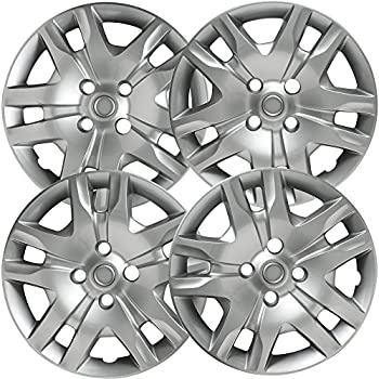 16 inch Hubcaps Best for 2013-2018 Nissan Leaf - (Set of 4) Wheel Covers 16in Hub Caps Silver Rim Cover - Car Accessories for 16 inch Wheels - Snap On ...
