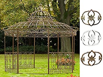 Amazon.de: CLP XXL Luxus Pavillon Romantik aus pulverbeschichtetem ...