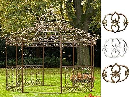 Amazon De Clp Xxl Luxus Pavillon Romantik Aus Pulverbeschichtetem