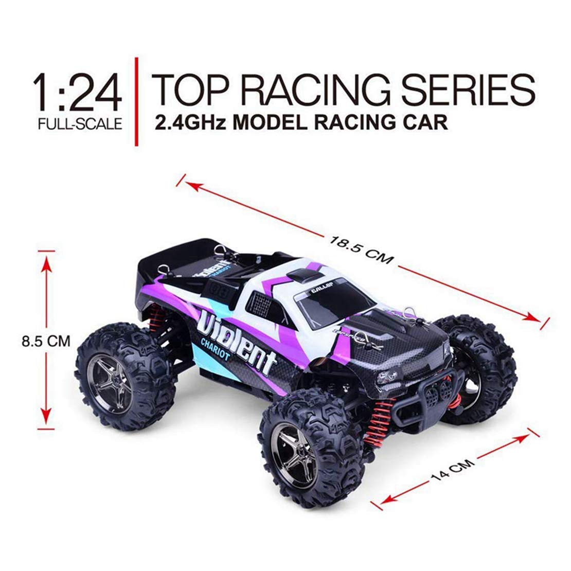 2x Flip Over Stunt voiture friction powered 4 roues motrices 4 x 4