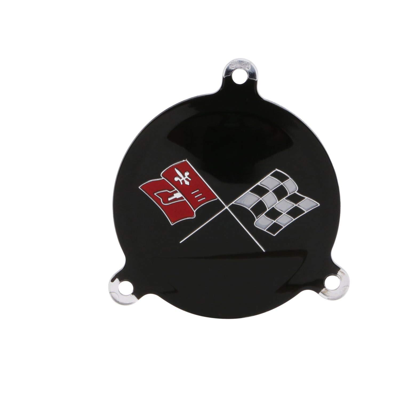 Trim Parts 5072A Spinner Emblem 1965-1966 Spinner Emblem, Black Upper Left Hand Black Upper Left Hand