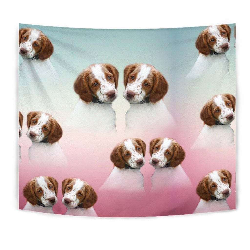 Brittany Dog Print Tapestry by Paws With Attitude