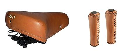 materiali di alta qualità nuovi prezzi più bassi scegli il meglio MONTEGRAPPA Sella Molle + Manopole Eco Pelle Ideali Bici Graziella - Epoca  - R - Olanda/Vintage - Marrone