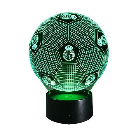 Real Madrid Fussball Gestalten 3d Illusion Lampe Led