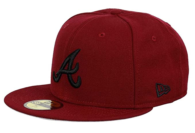 New Era 59fifty Basecap Red Atlanta Braves Cardinal Collection