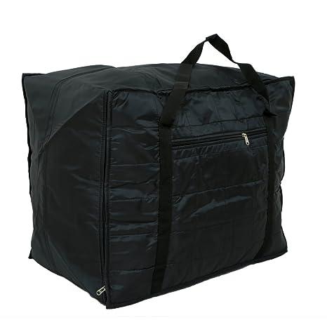 Kuber Industries trade; Jumbo Attachi Bag in Soft Parachute Material, Blanket Cum Suitcase Bag, Storage Bag  Black  Travel Duffles