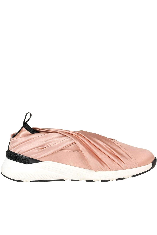 - Casadei Women's MCGLCAK000005025E gold Satin Slip On Sneakers