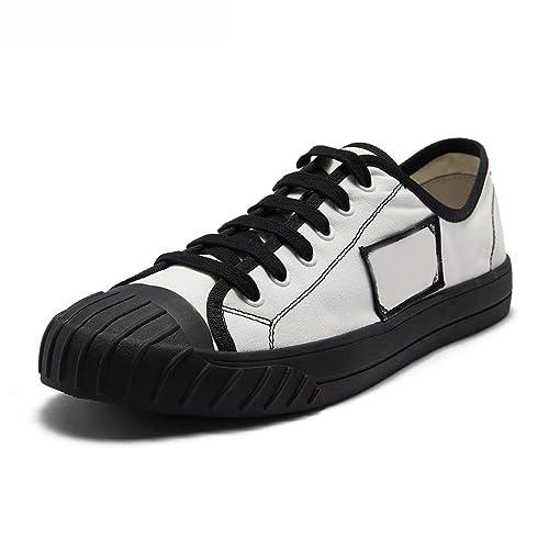 LIUXUEPING Temporada De Verano Hombres Zapatos De Lona Zapatos De Mariscos Salvaje Ocio Zapatillas De Deporte Versión Coreana Tide Student Zapatillas De ...