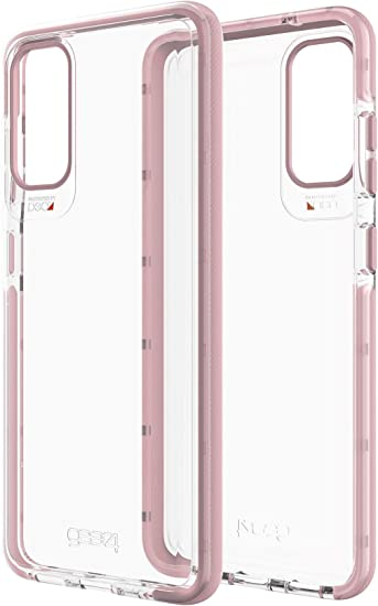amazon com gear4 hackney 5g designed for samsung galaxy s20 case advanced impact protection by d3o with 5g plus technology rose gold gear4 hackney 5g designed for samsung galaxy s20 case advanced impact protection by d3o with 5g plus technology rose gold