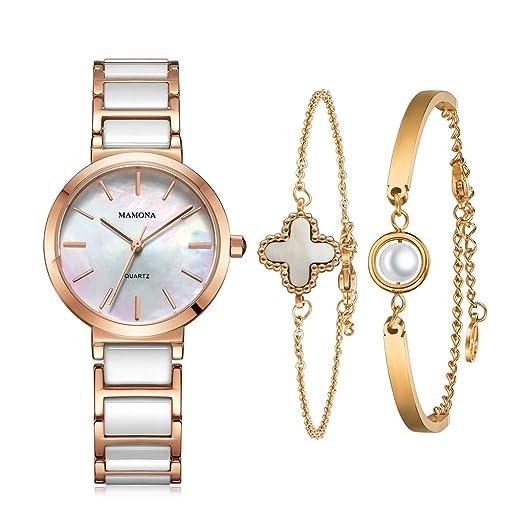 Amazon.com: MAMONA L3876RGGT - Reloj y pulsera para mujer ...