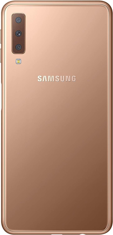 Samsung Galaxy 2018 Single SIM 64GB 0-Inch FHD Android Oreo Version Sim-Free Smartphone Gold with 32GB Memory Card Amazon Memory Edition