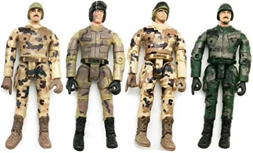 Ganquer 4 Piezas Modelo Figura de Acción Wpl Militar Simular Muñeca Colección para Niños Soldado - Multicolor, Free Size: Amazon.es: Hogar