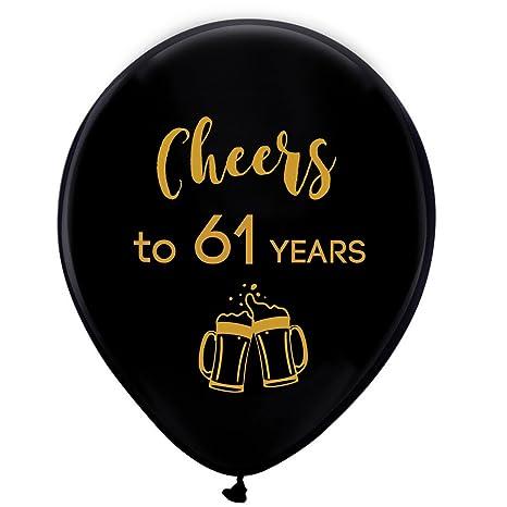 Amazon.com: Globos de látex de 61 años de color negro, de ...