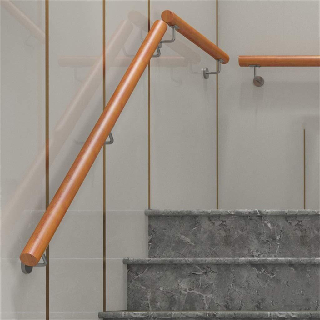 pour lint/érieur et lext/érieur avec Support en Acier Inoxydable 30-600cm Kit Complet Main Courante escaliers en Bois Support de Rail de Rampe descalier pour Main Courante descalier