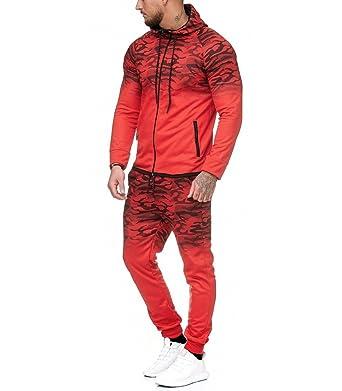 950ae4e84bc Violento - Ensemble Jogging Camouflage Survêtement 1149 Rouge - XL - Rouge