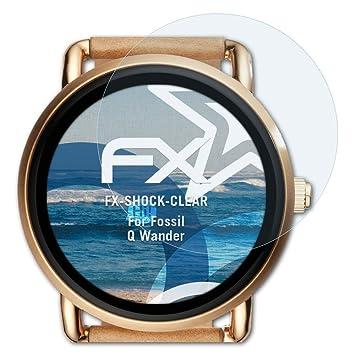 atFoliX Antichoque Película Protectora Compatible con Fossil Q ...