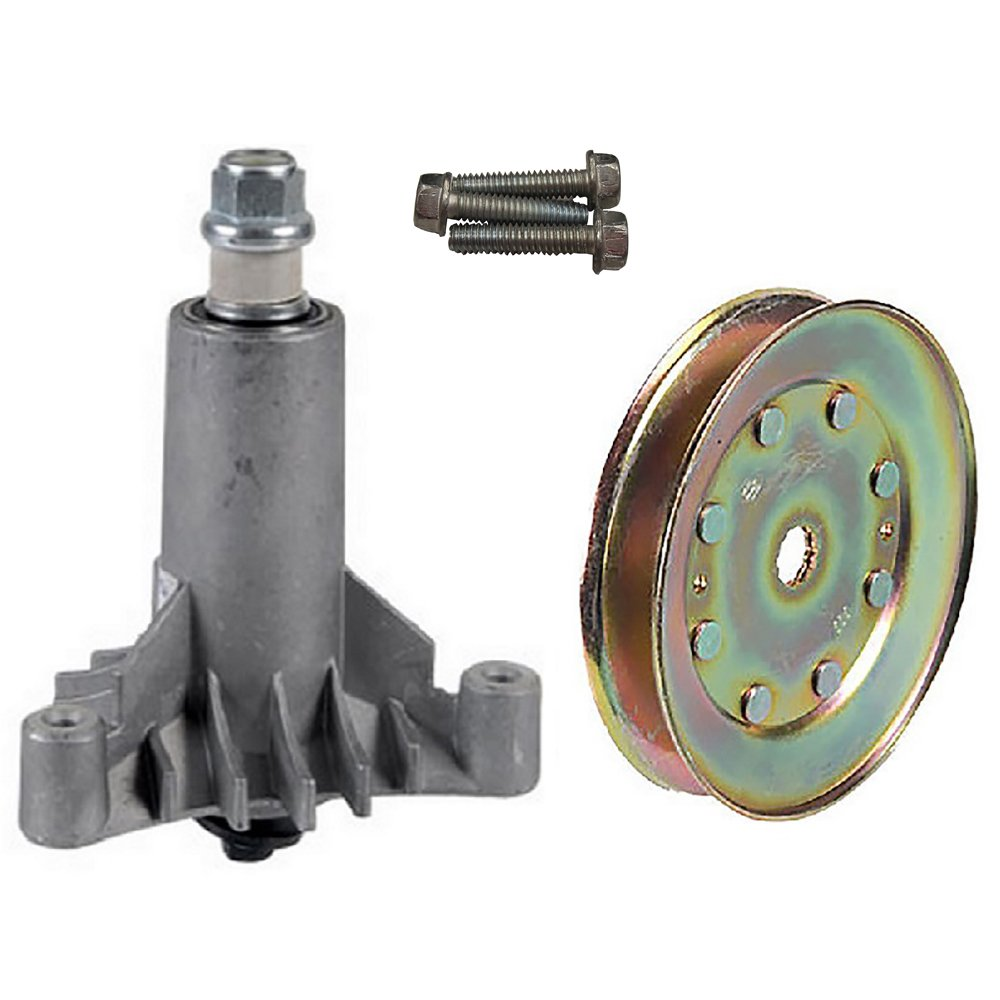 130794 Spindle Assembly With Mounting Bolts & 173436 Pulley & Hardware