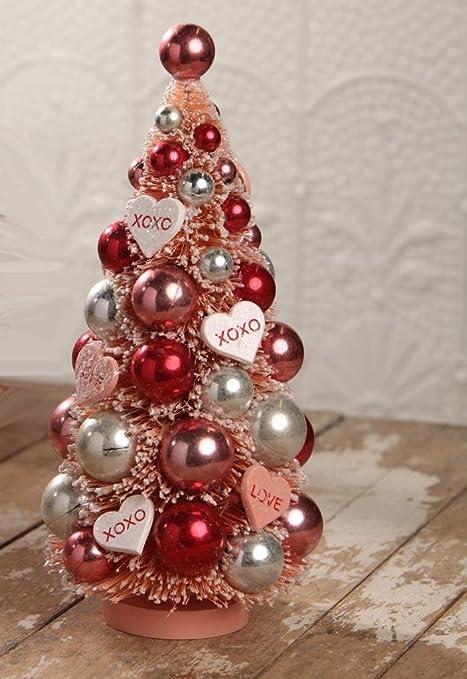 Bethany Lowe Christmas Ornaments.Amazon Com Bethany Lowe Valentine S Day Retro Bottle Brush
