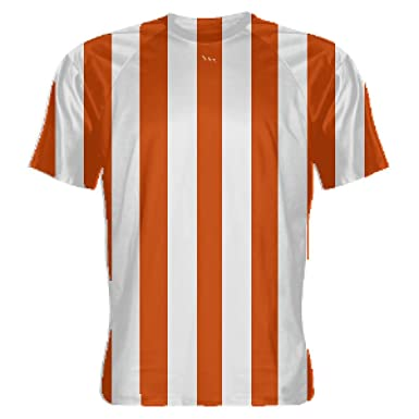 Amazon.com  LightningWear Youth Orange and White Striped Soccer Jerseys -  Soccer Shirts 40deb0608