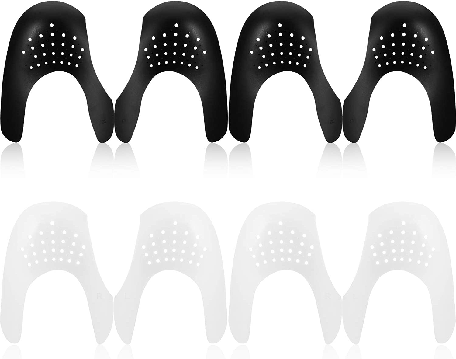 4 Pairs Shoes Creases Protector Toe Box Decreaser Prevent Sport Shoes Crease Indentation for Mens 7-12// Womens 5-8