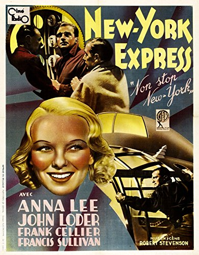 Posterazzi Non-Stop (Aka New York Express) French Art John Loder (Second Left Top) Anna Lee 1937 Movie Masterprint Poster Print (11 x 17)