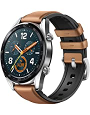 Huawei Fortuna-B19S Reloj Inteligente GT Piel, Café, Acero