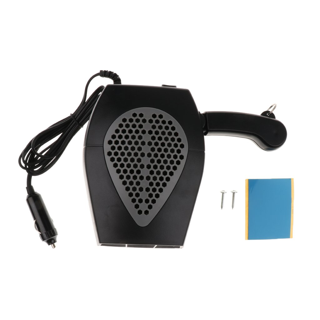 Dolity 2 in 1 12V Car Truck Heater Hot Cool Fan Window Demister Defroster - Black