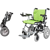 """The lightest & Most Compact Powered Wheelchair in The World - Ultra Portable Folding Power Wheelchair - Weights Only 39 lbs(Including 12A Lithium Battery) -Brushless Dual Motor - 18"""" Seat Width"""