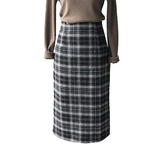 snfgoij Faldas de Lana para Mujer Faldas Plisadas de otoño ...
