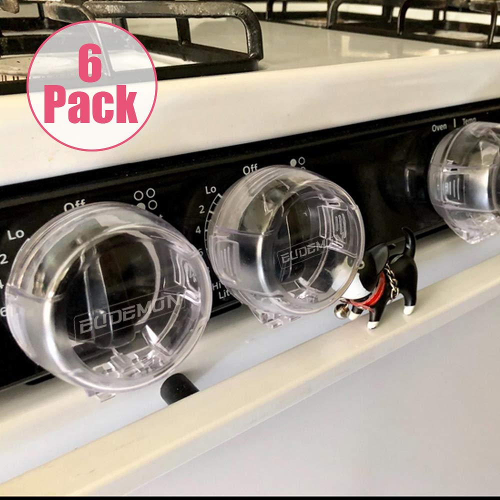 Eudemon Clear 6pack Safety Children Kitchen Stove Gas Knob Covers (6 Pack, Transparent) by EUDEMON