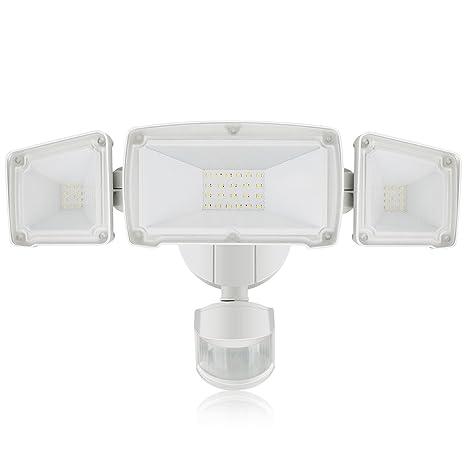 LED Luz de Seguridad de 3800LM, Luz de Sensor de Movimiento al Aire Libre de